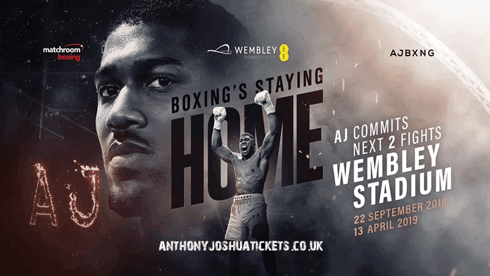 AJ fights at wembley.
